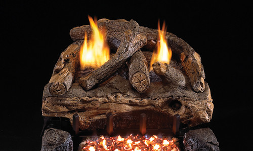 "RH Peterson Real-Fyre ESV30 30"" Evening Fyre Split Replacement Logs for G18 Vent-Free Burners (LOGS ONLY)"