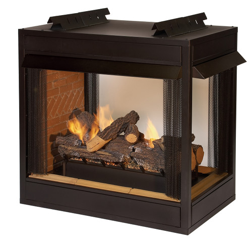 "White Mountain Hearth VFP36PB2 36"" Breckenridge Vent-Free 3-Sided Peninsula Firebox"