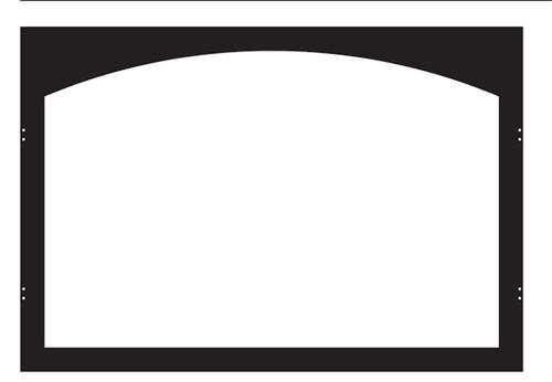 White Mountain Hearth VBY36TBL Arch Hinge Door Frame in Matte Black