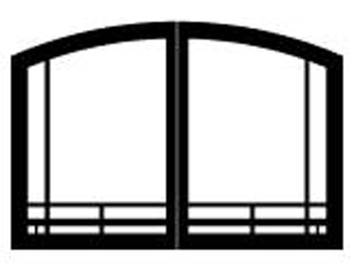 "White Mountain Hearth VBR36TMBL 36"" Mission Arch Doors for Breckenridge Premium 36 and See-Through in Matte Black"