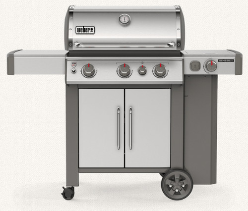 Weber 61006001 Genesis II S-335 Freestanding Gas Grill with Sear Station and Side Burner - Stainless - LP