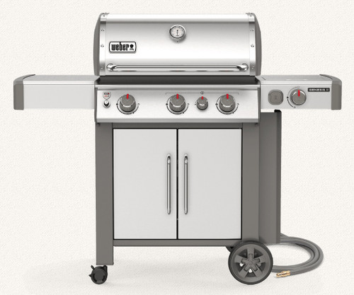 Weber 66006001 Genesis II S-335 Freestanding Gas Grill with Side Burner - NG - Stainless