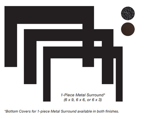 White Mountain Hearth DS2063DBL 3 x 6 x 2-1/4 Deep Surround for Small Innsbrook Direct Vent Insert - Matte Black