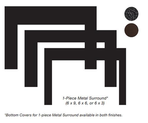 White Mountain Hearth DS2066BL 6 x 6 x 1 Surround for Small Innsbrook Direct Vent Insert - Matte Black