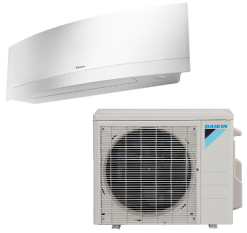 Daikin FTXR09TVJUW / RX09RMVJU9 Emura Series 9000 BTU Heat Pump 18 SEER Single Zone Mini Split System