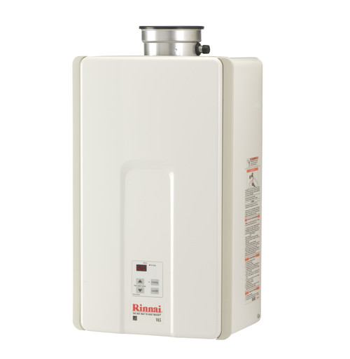 Rinnai V65i High Efficiency Non-Condensing, 6.5 GPM Tankless Hot Water Heater for Indoor Installation