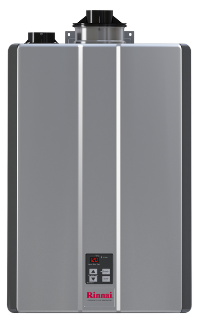 Rinnai RUR160i 8.0 GPM Sensei+ Tankless Hot Water Heater for Indoor Installation