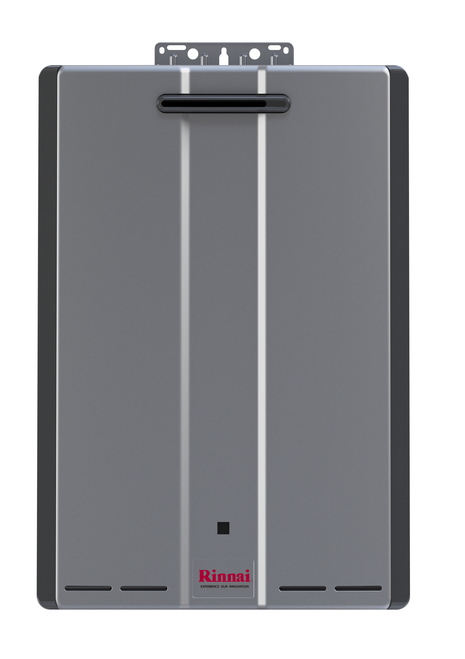 Rinnai RU180e 9.0 GPM Sensei+ Condensing Tankless Hot Water Heater for Outdoor Installation