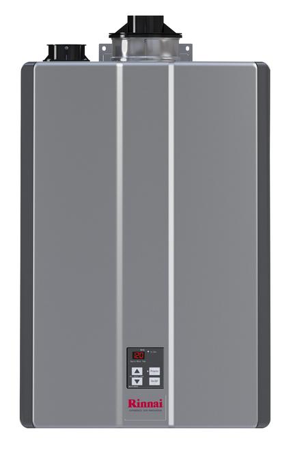 Rinnai RU180i 9.0 GPM Sensei+ Tankless Hot Water Heater for Indoor Installation