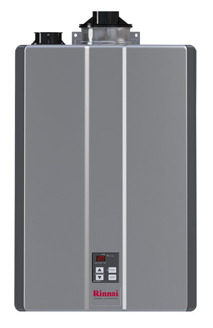 Rinnai RU160i 8.0 GPM Sensei+ Condensing Tankless Hot Water Heater for Indoor Installation