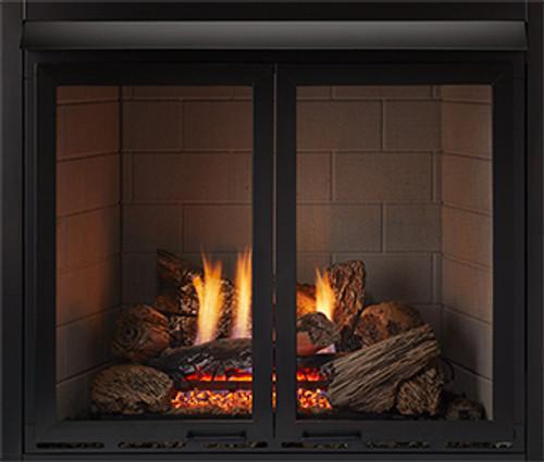 """Monessen DLR32B 32"""" Cabinet Doors with Screen in Black"""