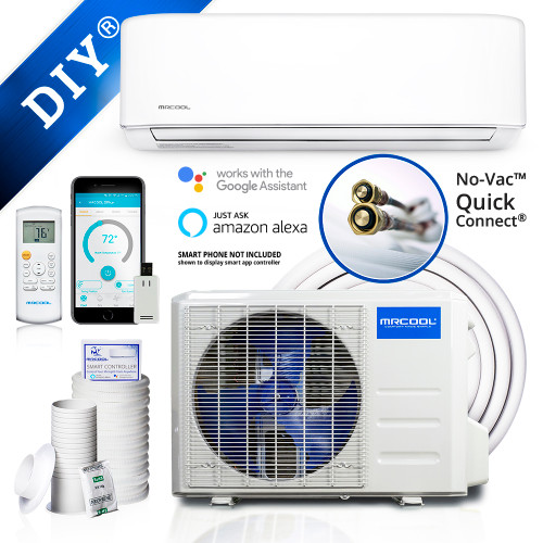 MRCOOL DIY-24 24000 BTU DIY Single Zone Mini Split with Heat Pump, WiFi SmartController, 230 Volt