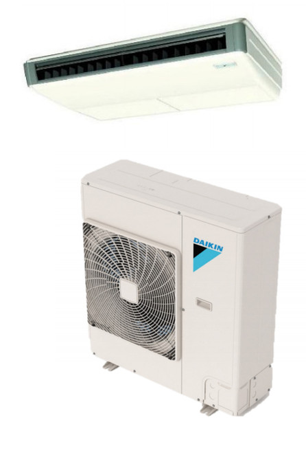 Daikin FHQ18PVJU / RZQ18TAVJU 18000 BTU Class SkyAir Commercial Ceiling Suspended Heat Pump 16.3 SEER Single Zone System