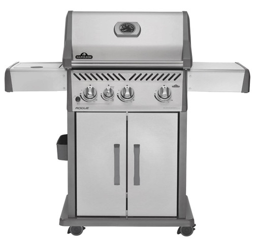 Napoleon R425SIBPSS Rogue Series Freestanding Gas Grill with Infrared Side Burner - Liquid Propane, Stainless Steel
