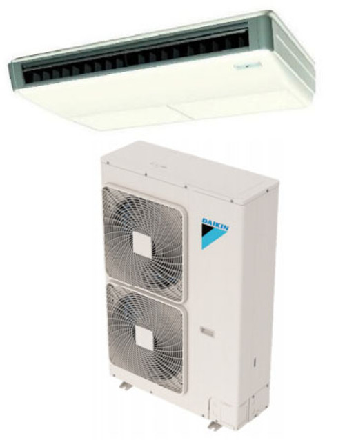 Daikin FHQ36MVJU / RZQ36TAVJU 36000 BTU Class SkyAir Commercial Ceiling Suspended Heat Pump 14 SEER Single Zone System
