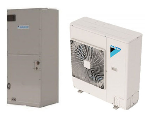 Daikin FTQ18TAVJUD / RZQ18TAVJU 18000 BTU Class SkyAir Commercial Vertical Air Handler 15.5 SEER Single Zone System