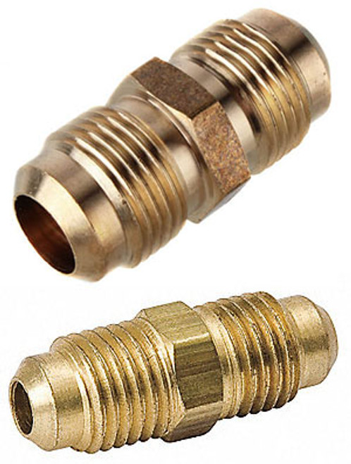 "THS 1/4"" and 3/8"" Straight Union S.A.E. Flare Fittings"