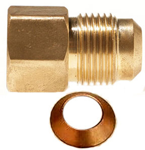 "THS 1/2"" Male to 3/8"" Female Straight S.A.E. Flare Reducer"