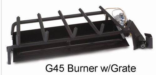 "RH Peterson Real-Fyre G4516/19P 16/19"" Triple T Vented Burner with APK17 Automatic Pilot - Liquid Propane"