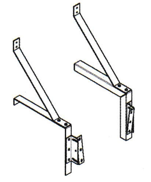 "Mars B0011 23"" Clearance Drum-Roll-Style Extended Wall-Mounting Bracket"
