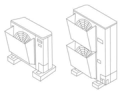 Panasonic WINDB1A-2 Wind Baffle - Side Discharge Fan - Set of 2