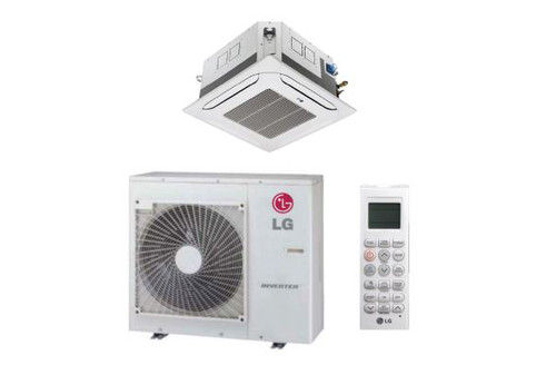 LG LC248HV 24000 BTU 4-Way Ceiling Cassette with Grille, Single Zone System with Heat Pump, 230 Volt - Energy Star