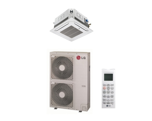 LG LC428HV 42000 BTU 4-Way Ceiling Cassette with Grille, Single Zone System with Heat Pump, 230 Volt - Energy Star