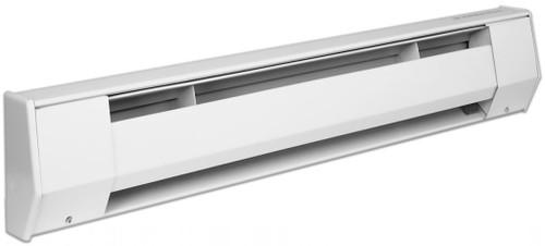 King 6K2415BW 6 Foot 1125/1500 Watt Electric Baseboard Heater - 208/240 Volt