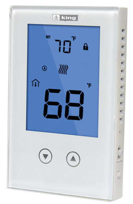 King Electric K322E Non-Programmable Clear Touch Double Pole Thermostat