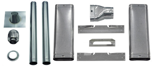 """THS Complete 4"""" Oval Vent Kit for Top Vent Furnace Installation"""