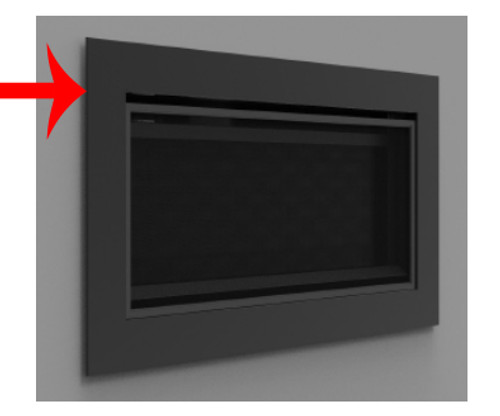 "Superior DS-BLK-RNCL45 Matte Black Decorative Surround for 45"" DRL"