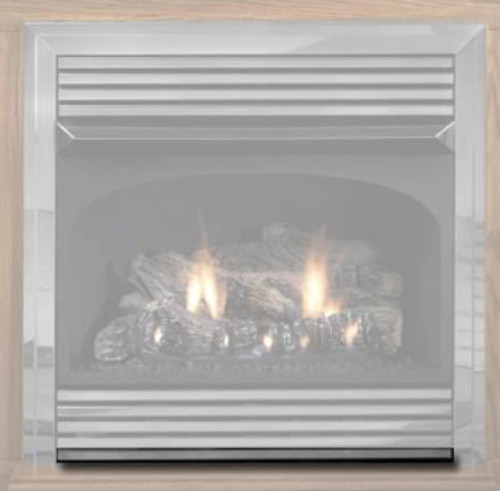 White Mountain Hearth FBS1HP Hammered Pewter Bottom Trim Kit for Vail Premium 32