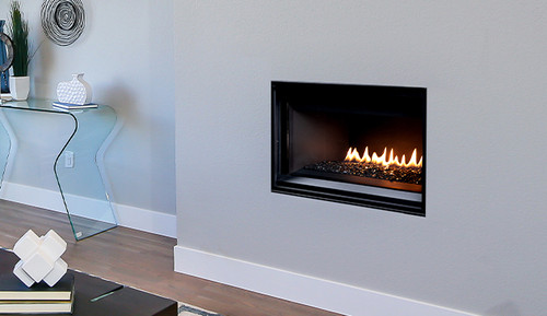 """Superior DRL3545TEN 45"""" Contemporary, Linear Direct Vent Fireplace with Electronic Ignition, Variable Speed Blower and Remote - Natural Gas"""