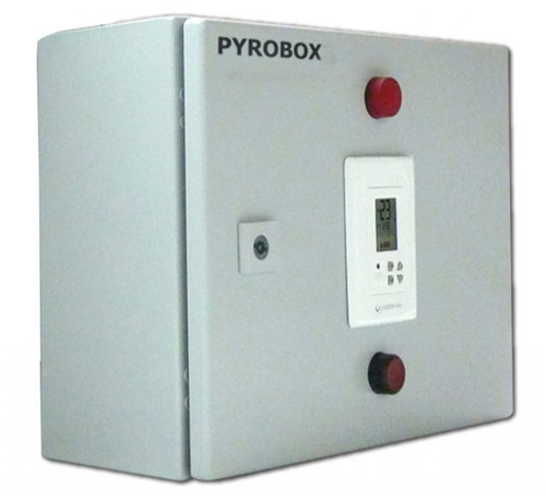 King PYROBOX3 Power Box with PYROCON12 Control Panel for Up to 4-30A Zones, 277V