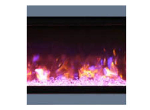 "Amantii SYM-88-SURR-GREY Dark Grey Surround For 88"" Symmetry & Symmetry-B Electric Fireplaces"