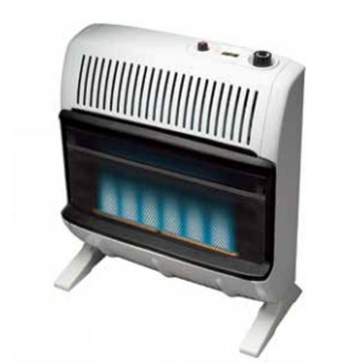 Heatstar HSSVFBF30LPT 30000 BTU Vent Free Blue Flame Heater with Thermostat - LP