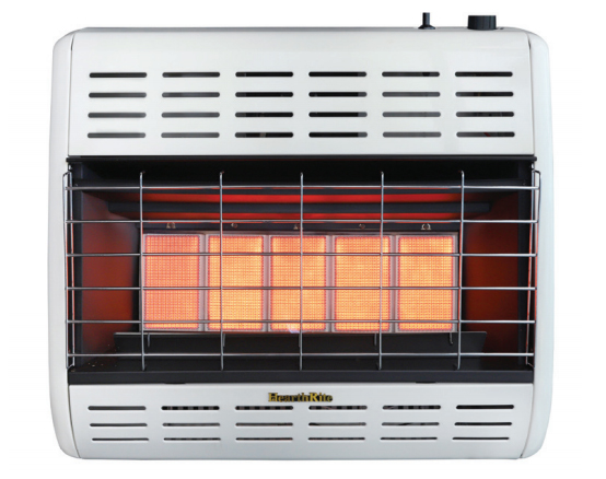HearthRite HRW30TN 30000 BTU Infrared/Radiant Vent Free Gas Heater with Thermostat - Natural Gas