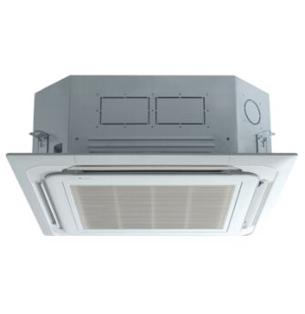 LG LCN127HV4 11100 BTU 4-Way Ceiling Cassette with Grille Indoor Unit - Heat and Cool