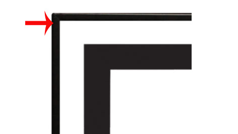 """White Mountain Hearth DF481VBL 3/4"""" Beveled Front Trim for Boulevard 48"""" Linear Fireplaces"""