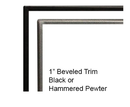 """White Mountain Hearth DF48HP 1"""" Beveled Hammered Pewter Front Trim for Boulevard 48"""" Direct Vent Linear Fireplaces"""