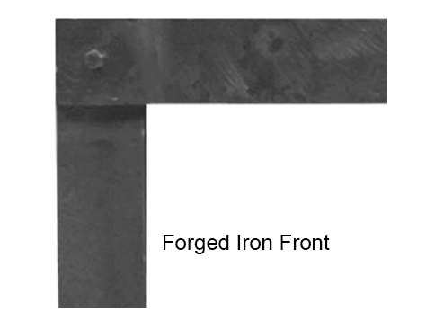 """White Mountain Hearth DFF48FPD 3"""" Forged Iron Front for Boulevard 48"""" Direct Vent Linear Fireplaces - Distresses Pewter"""