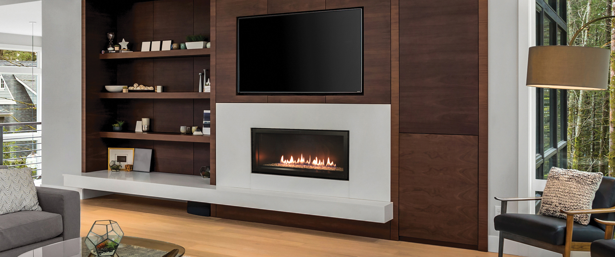 White Mountain Hearth Dvll36bp92 36 Boulevard Contemporary Zero Clearance Direct Vent Fireplace Choice Of Fuel