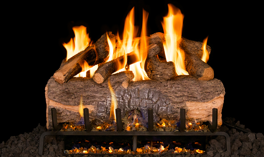 """RH Peterson Real-Fyre MCO24 24"""" Mountain Crest Oak Replacement Logs for Vented Burners (LOGS ONLY)"""