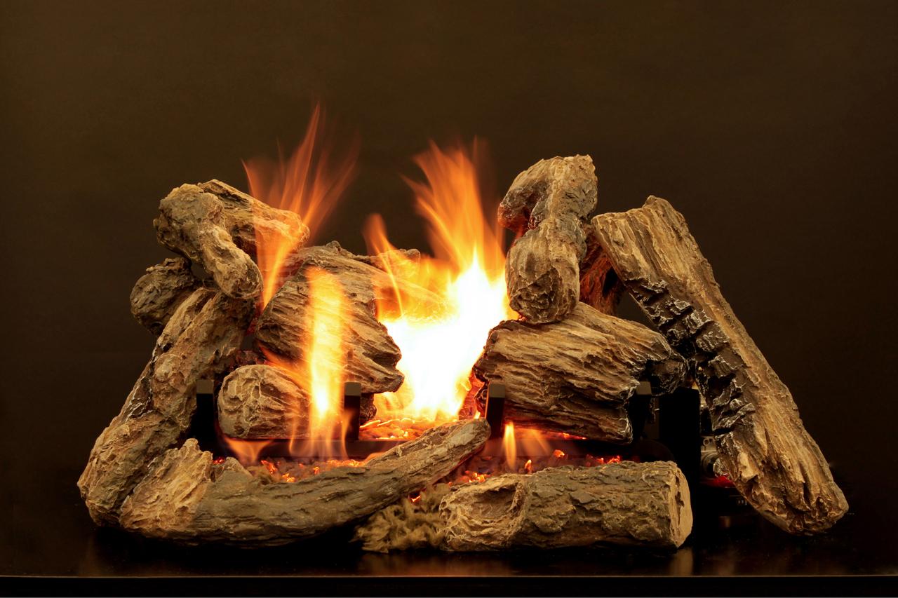 White Mountain Hearth Kensington Forest Log Set - Choice of Burner