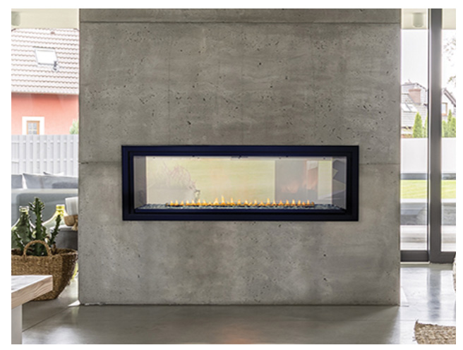 """White Mountain Hearth VFLB48SP90 48"""" Boulevard See-Through Vent Free Linear Fireplace with Intermittent Pilot - Choice of Fuel Type"""