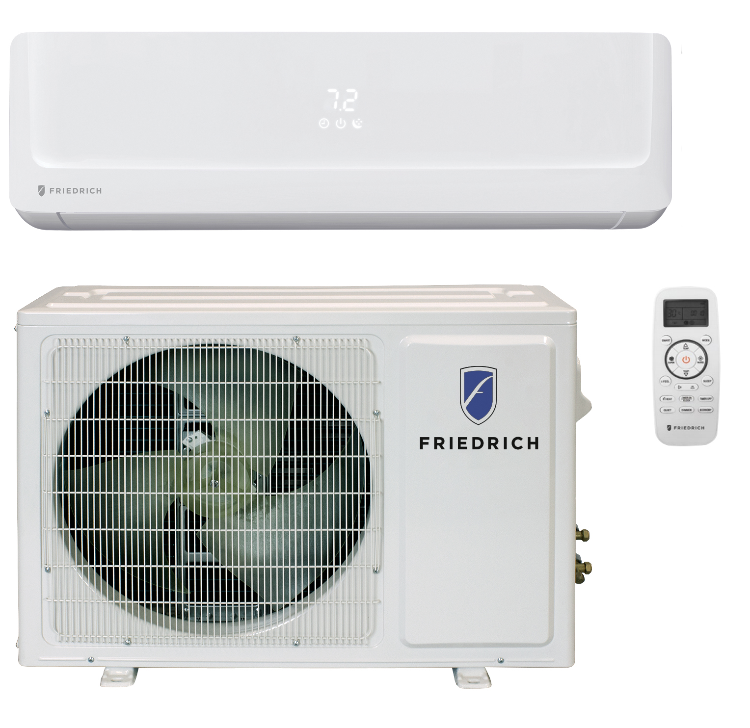 Friedrich FPHW363A 36000 BTU Floating Air Pro Series Single Zone Mini Split with Built-In WiFi - Heat and Cool - Energy Star
