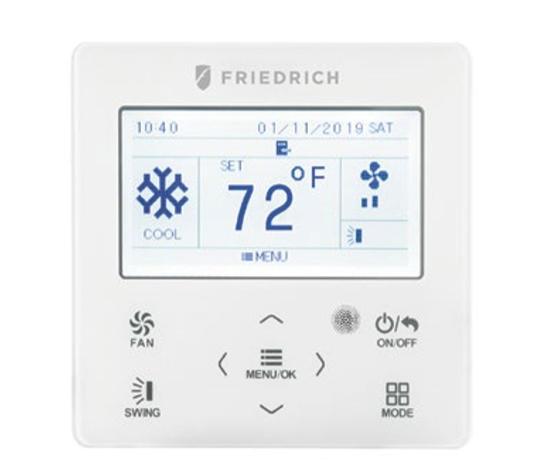 Friedrich FSWC1 Digital Wired Wall Thermostat for Single Zone Systems