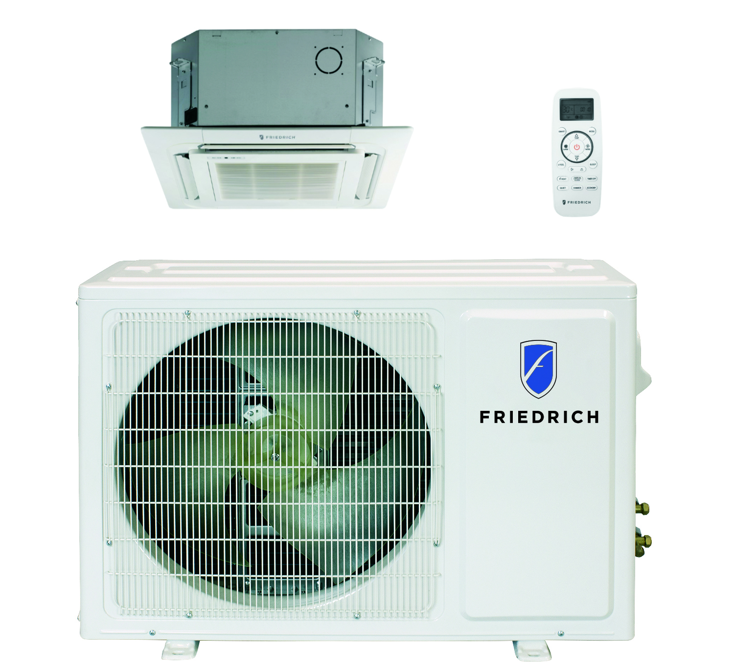Friedrich FPHC243A 24000 BTU Floating Air Pro Series Single Zone Mini Split Ceiling Cassette with Built-In WiFi - Heat and Cool