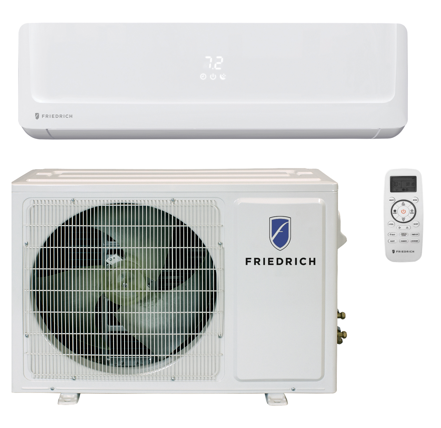 Friedrich FPHW121A 12000 BTU Floating Air Pro Series Single Zone Mini Split with Built-In WiFi - Heat and Cool - Energy Star - 115V
