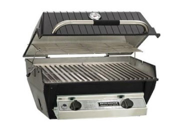 Broilmaster R3BN Gas Grill Head with Single Blue Flame Burner and Single Infrared Burner - Natural Gas